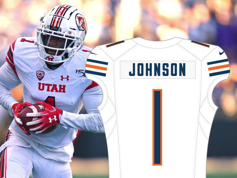 Jaylon Johnson No. 1 Bears Jersey