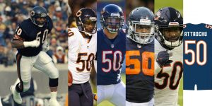 Chicago Bears 50 Jersey History