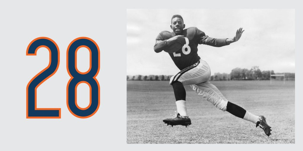 Chicago Bears Retired Jersey 28 Willie Galimore