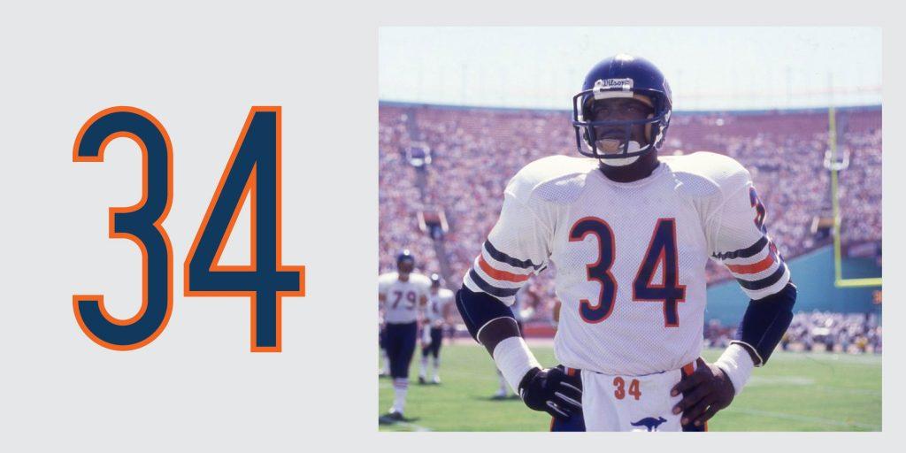Chicago Bears Retired Jersey 34 Walter Payton