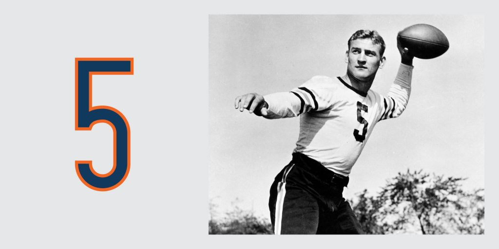 Chicago Bears Retired Jersey 5, George McAfee