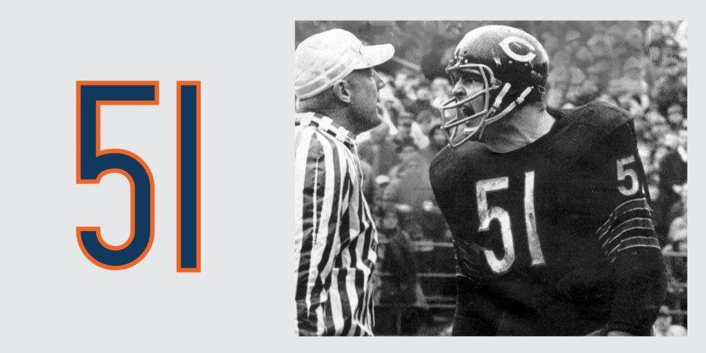 Chicago Bears Retired Jersey 51 Dick Butkus