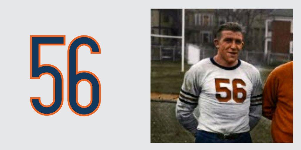 Chicago Bears Retired Jersey 56 Bill Hewitt