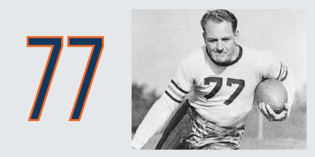 Chicago Bears Retired Jersey 77 Harold Red Grange